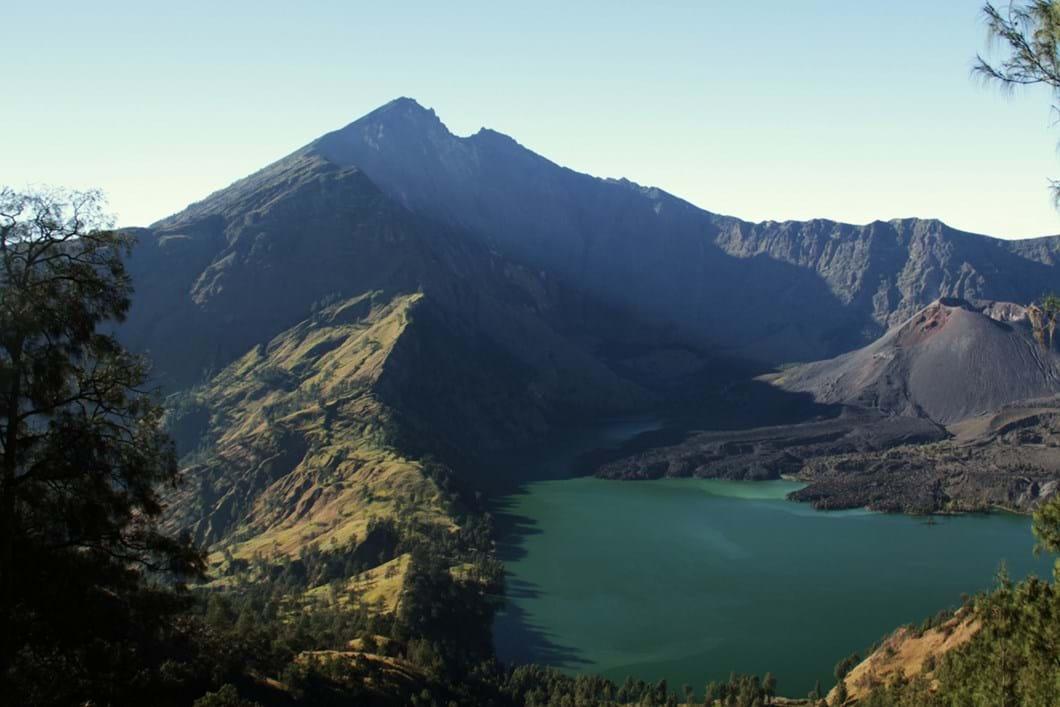 Rinjani complex volcano