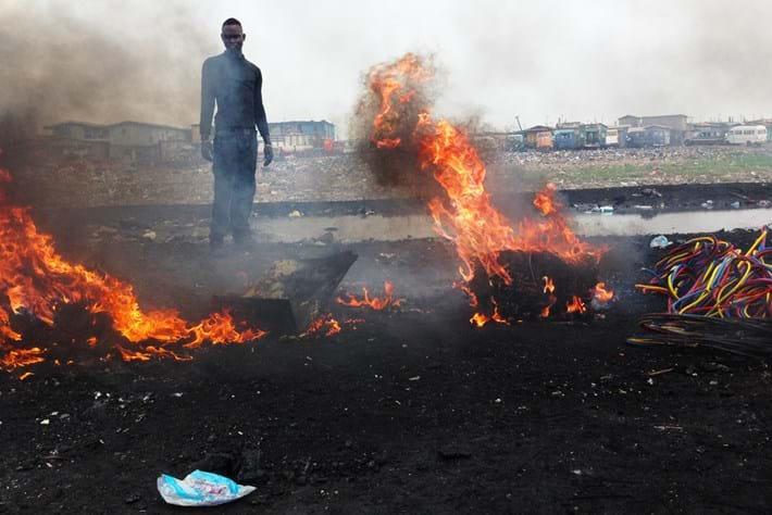 Ghana Ewaste Burning 26 03 2014