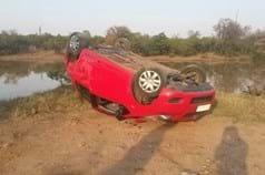 Elephant Overturns Car Kruger 2014 08 21