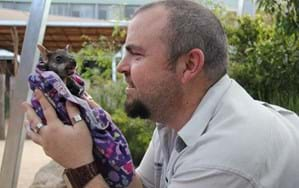 In photos: Orphaned wallaby gets a surrogate dad