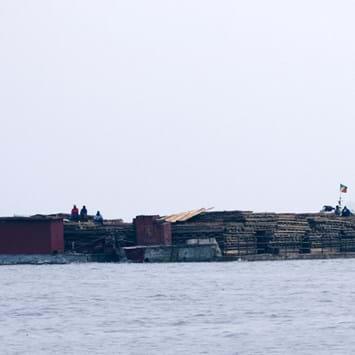 Congo Barge Logging 2014 11 05