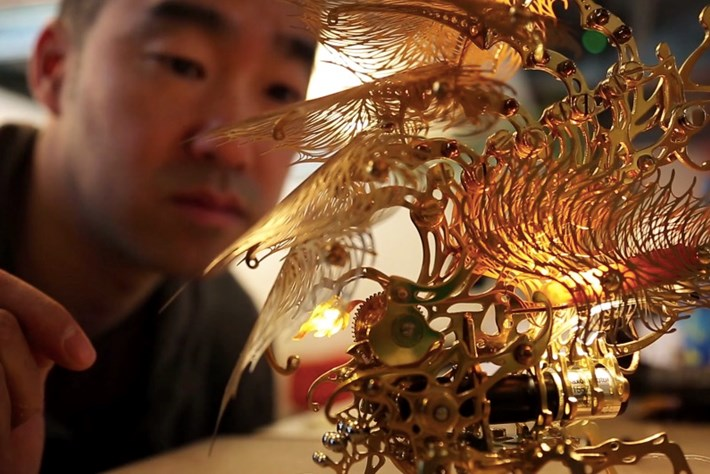 These steampunk insect lamps are out of this world